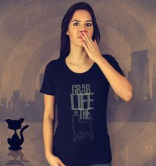 Damen T-Shirt Grab Life By The Pussy