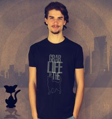 Herren T-Shirt Grab Life By The Pussy