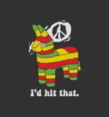 T-Shirt Rasta Pinata I'd Hit That