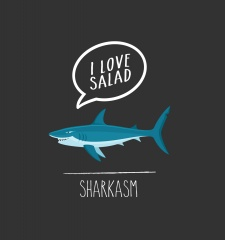 T-Shirt Some Vegan Sharkasm