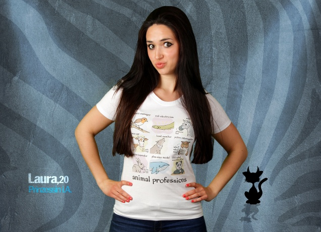 Damen T-Shirt Animal Professions