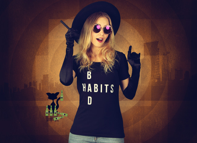 Damen T-Shirt Bad Habits