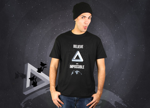 Herren T-Shirt Believe In The Impossible