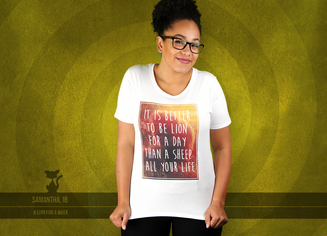 Damen T-Shirt Better A Lion For A Day