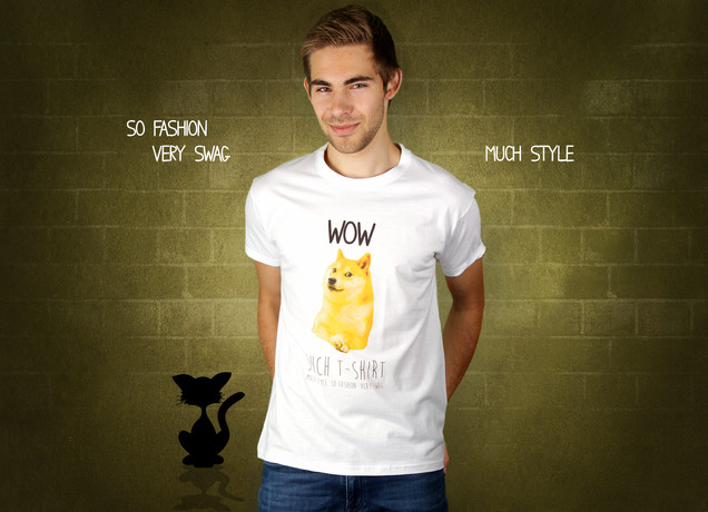 Herren T-Shirt Doge Meme - Wow Such T-Shirt