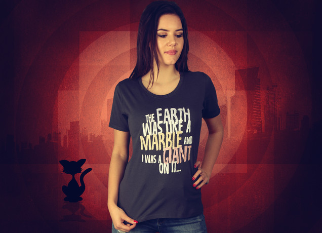 Damen T-Shirt Earth Like A Marble