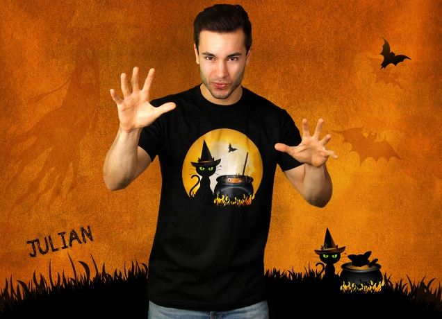 Herren T-Shirt Halloween Cooking