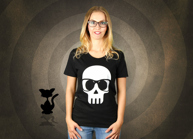 Damen T-Shirt Halloween Nerd