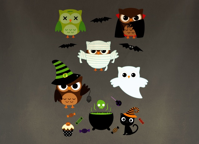 T-Shirt Halloween Owls