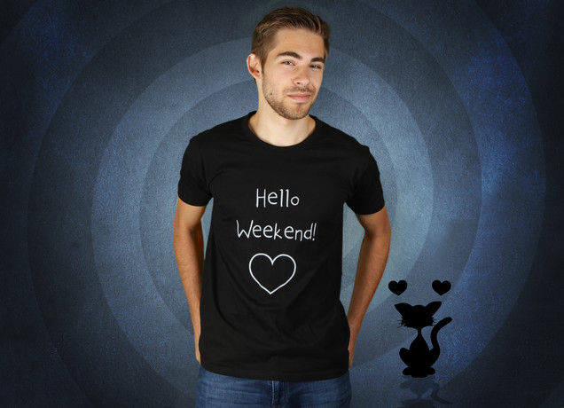 Herren T-Shirt Hello Weekend