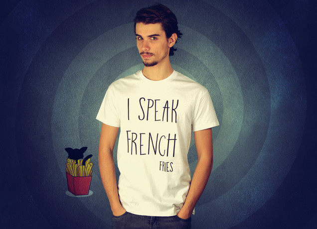 Herren T-Shirt I Speak French (Fries)