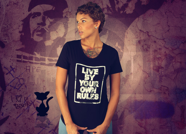 Damen T-Shirt Live By Your Own Rules