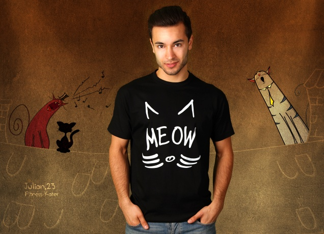 Herren T-Shirt Meow You There