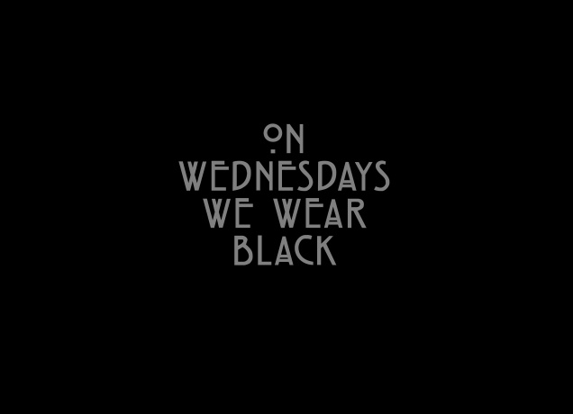 Design On Wednesdays We Wear Black
