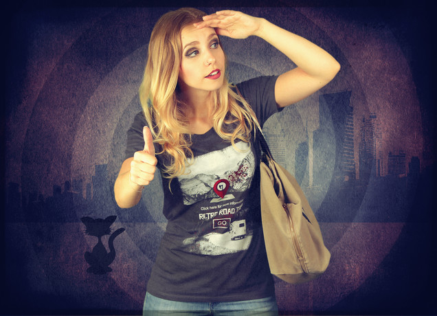 Damen T-Shirt Retro Road Trip Advisor