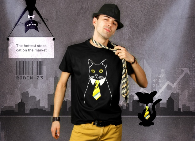 Herren T-Shirt The Business Cat