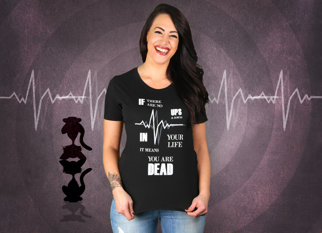 Damen T-Shirt Ups & Downs