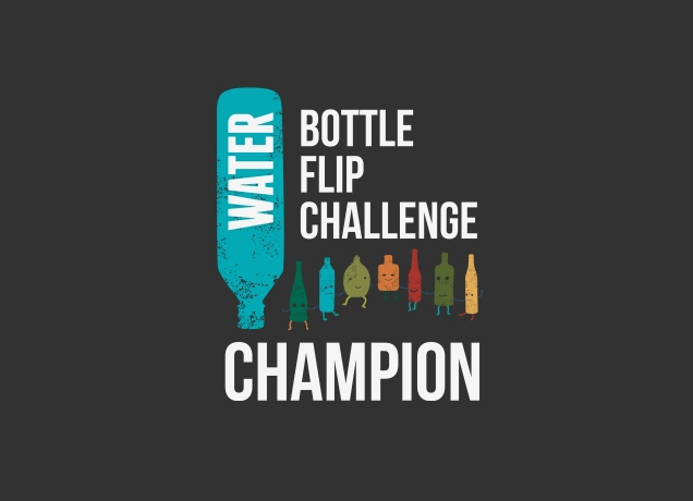 T-Shirt Water Bottle Flip Challenge