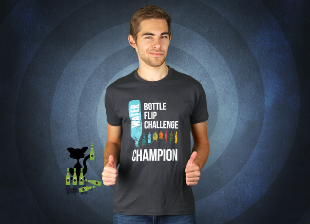 Water Bottle Flip Challenge T-Shirt
