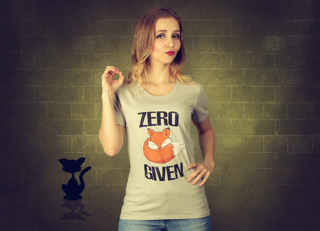 Damen T-Shirt Zero Fox Given