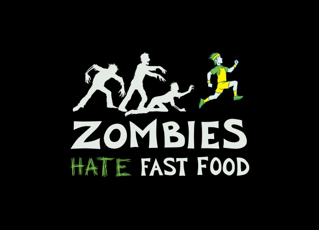 T-Shirt Zombies Hate Fast Food